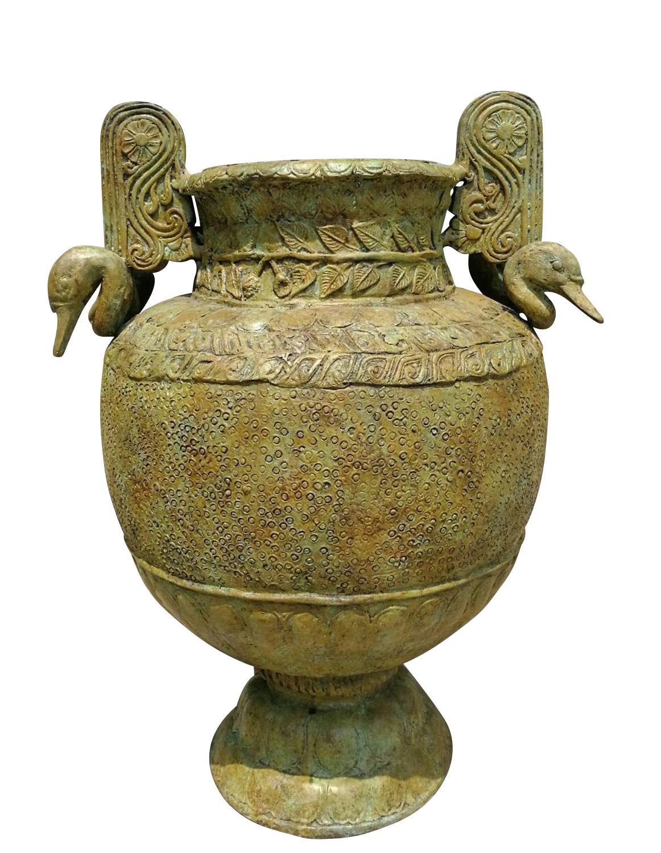 Bronzevase SCHWANENSEE