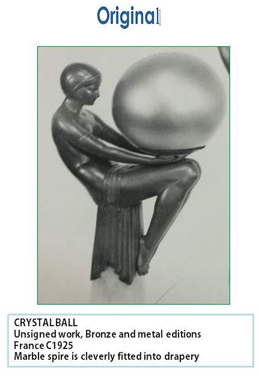 Orignales Vorbild von CRYSTAL aus dem Jahr 1925, unbekannter Bildhauer