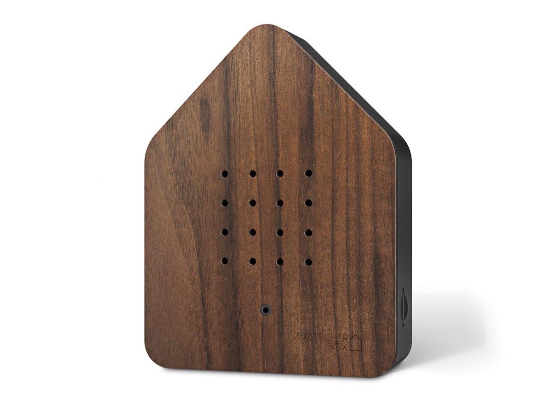 ZWITSCHERBOX Holz NUSS-schwarz