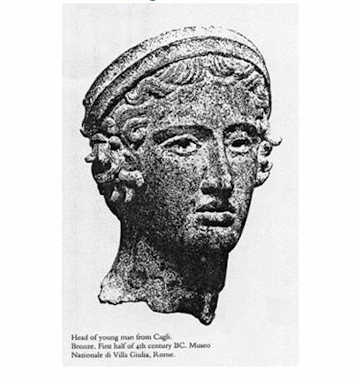 Bronzebüste CAGLI, das historische Vorbild aus dem 4. Jh. v. Chr.