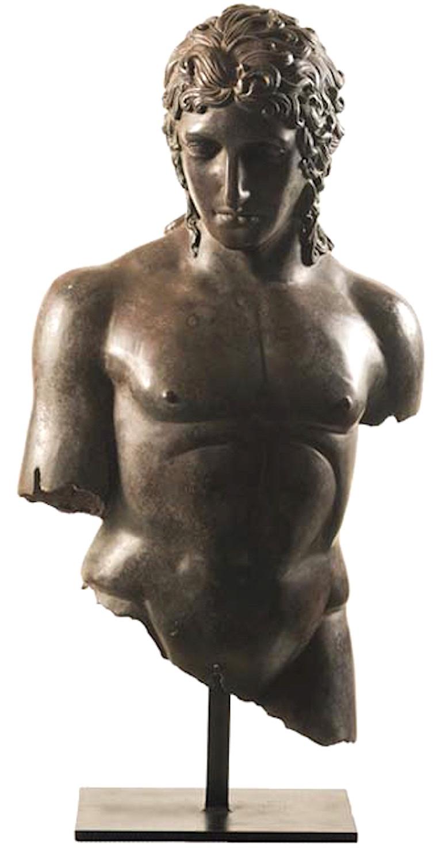 Bronzebüste JUNIUS, 92 cm