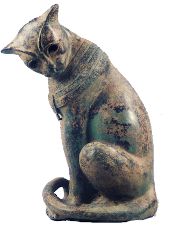 Bronzefigur Katze/Kater BASTET