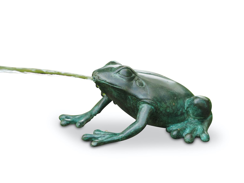 Bronzewasserspeier Frosch MAURICE, 14 cm