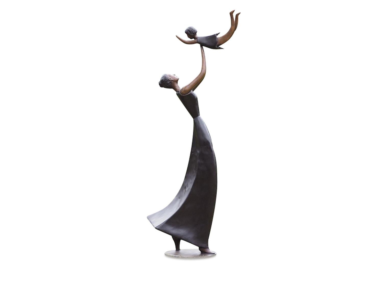 Bronzefigur MUTTER UND KIND, 150 cm