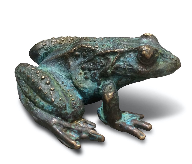 Bronzefigur Frosch FIDEL