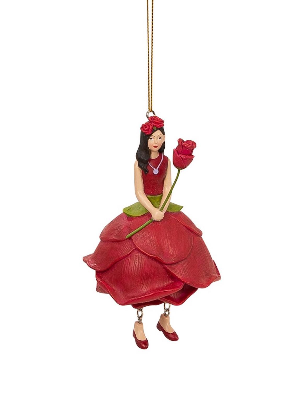Blumenmädchen ROSE rot NEU