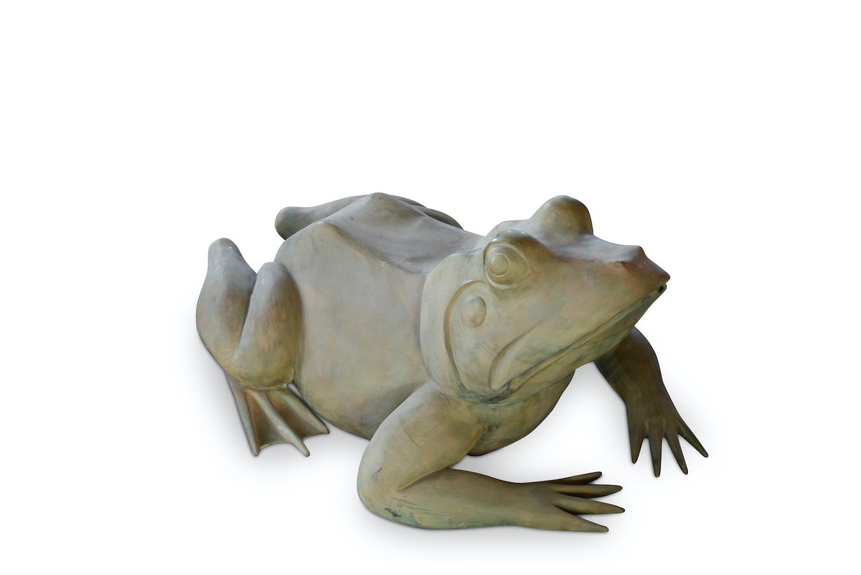 Bronzewasserspeier Frosch MAGNUM, 120 cm