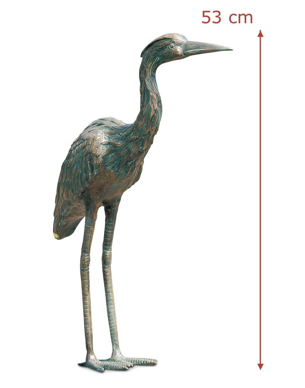 Bronzefigur Vogel GRAUREIHER