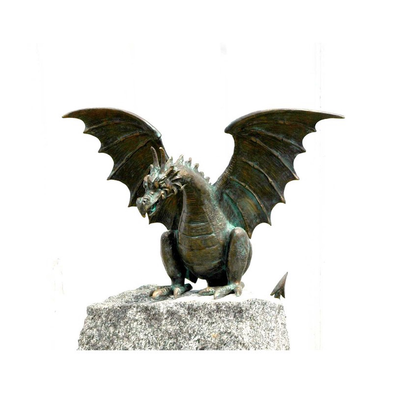 Bronzefigur Drache WAHNFRIED, 28 cm