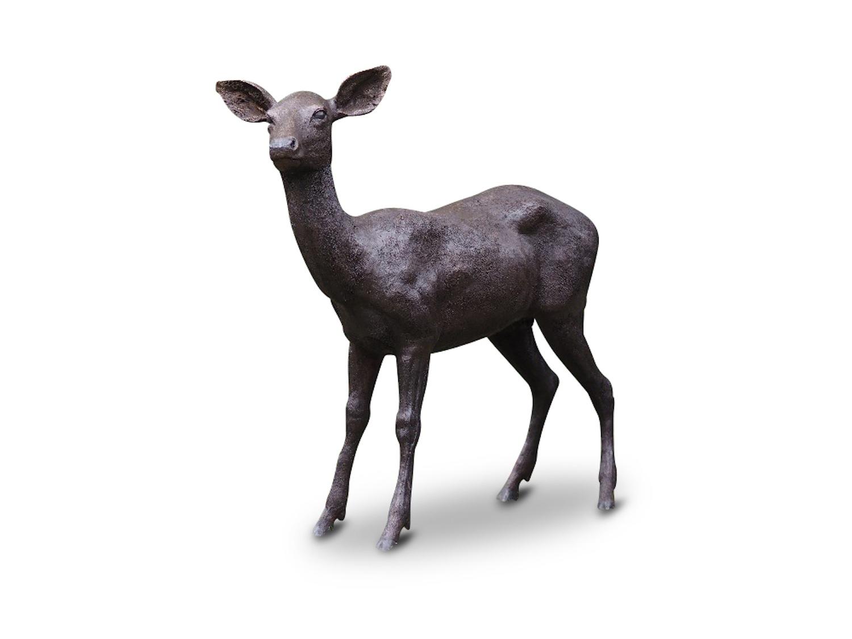 Bronzefigur Reh WOLKE, 124 cm