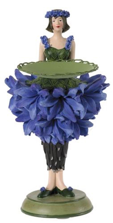 Blumenmädchen Teller KORNBLUME