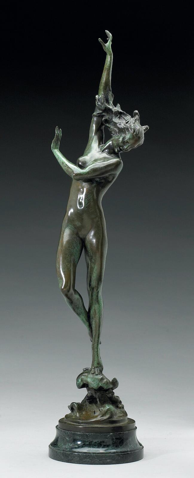 """Historischer Vorläufer """"Crest of the Wave"""" der amerikanischen Bildhauerin Harriet Whitney Frishmuth  aus dem Jahr 1925."""