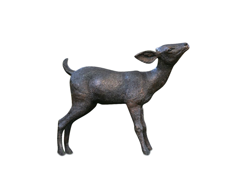 Bronzefigur Rehkitz BAMBI, 79 cm