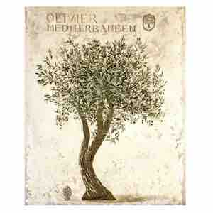 Wandgobelin OLIVENBAUM, 95 x 145 cm