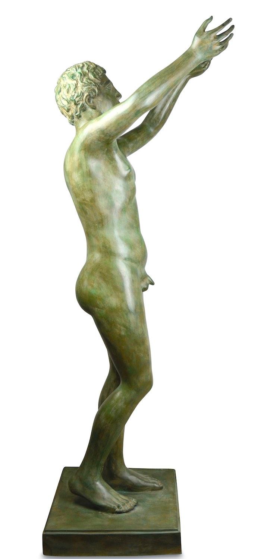Bronzefigur BETENDER KNABE, 130 cm