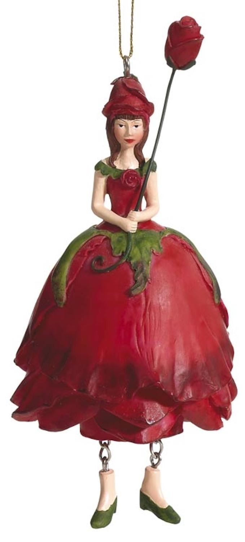 Blumenmädchen Rose rot