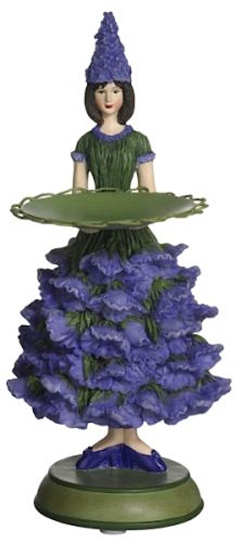 Blumenmädchen Teller LAVENDEL