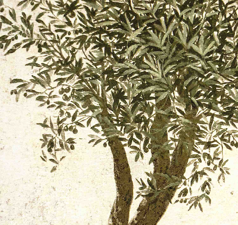 Wandgobelin OLIVENBAUM, Detail