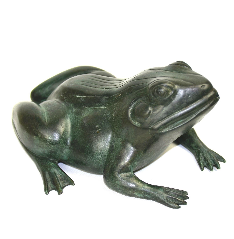 Bronzewasserspeier Frosch JOSÉ