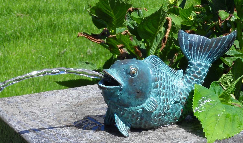 Bronzewasserspeier Fisch GUILLAUME