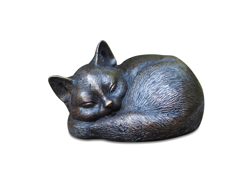 Bronzefigur Katze/Kater MINKA, 14 cm