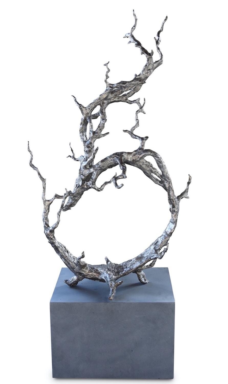 Bronzefigur GEFLECHT, 137 cm