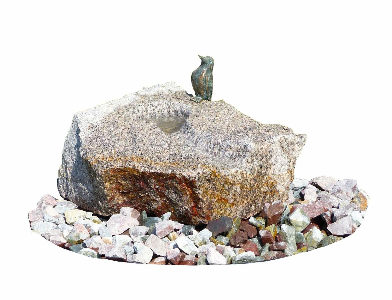 Wasserwelt EISVOGEL, Brunnenkomplettset aus Bronze und Stein
