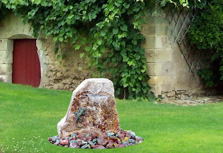 Wasserwelt EIDECHSE, Brunnenkomplettset, im Garten