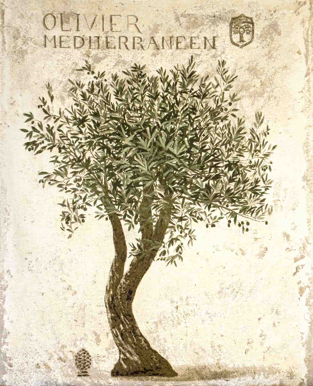 Wandgobelin OLIVENBAUM, 145 x 190 cm