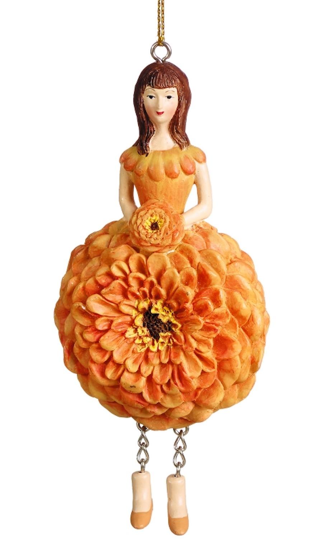 Blumenmädchen Zinnie orange