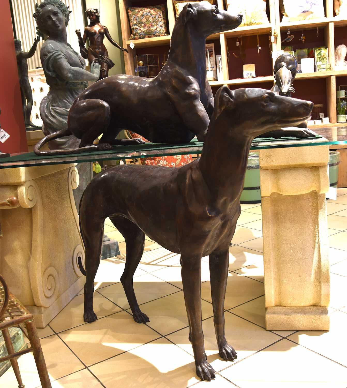 Bronzefiguren Windhunde EOS & NOTOS