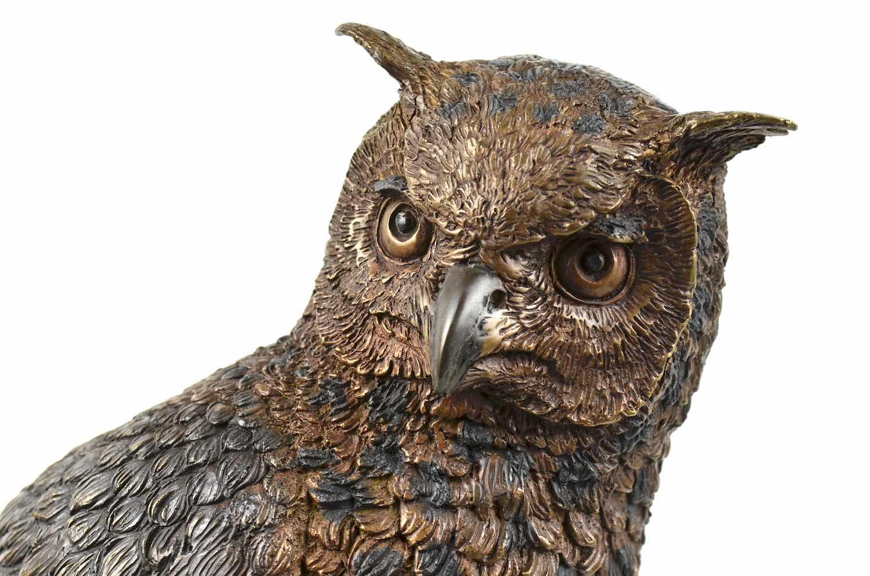 Bronzefigur NOCTUS, lebensgroße Eule