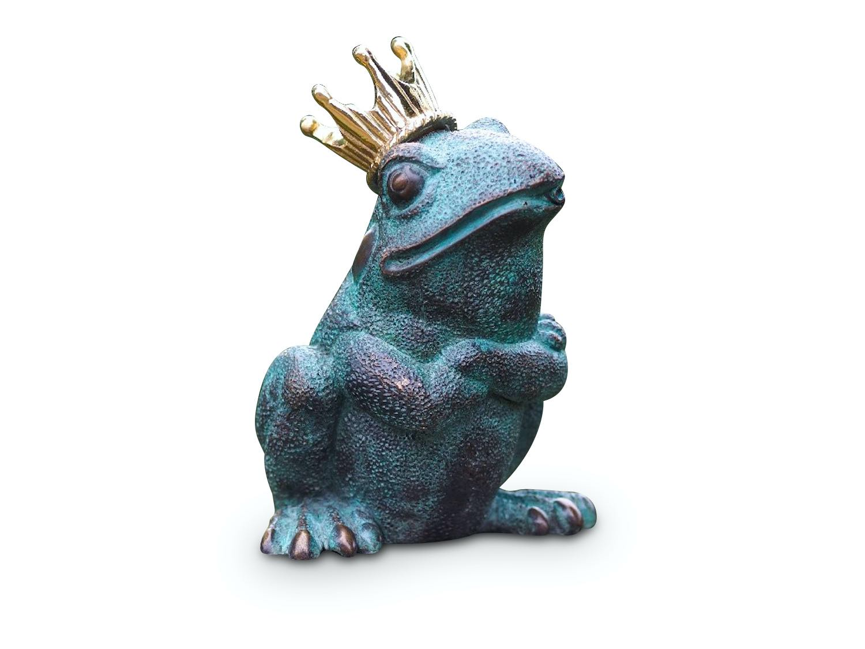 Bronzewasserspeier Froschkönig OSCAR, 20 cm