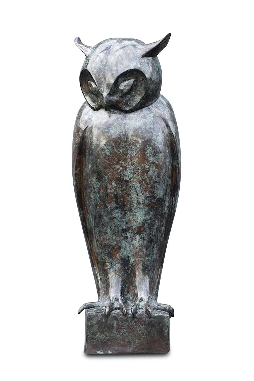Bronzefigur Eule PERCEVAL, 55 cm