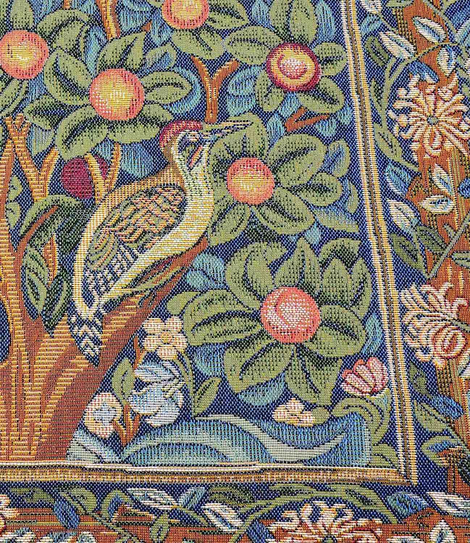 Gobelinkissen MORRIS LEBENSBAUM mit 2 Vögeln