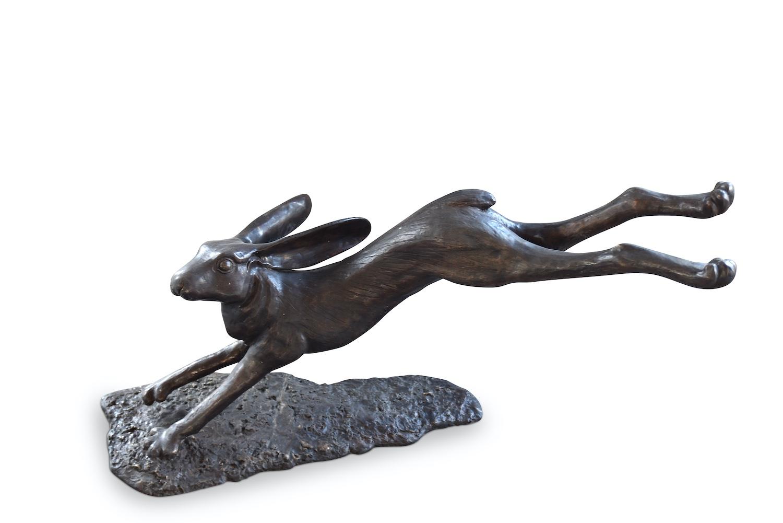 Bronzefigur Hase TRUMAN, 78 cm