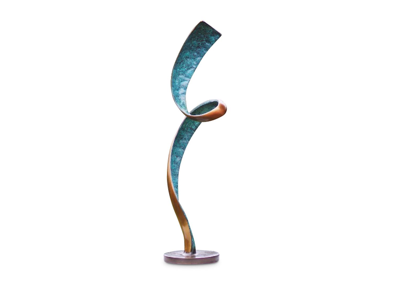 Bronzefigur BLAUES BAND, 47 cm