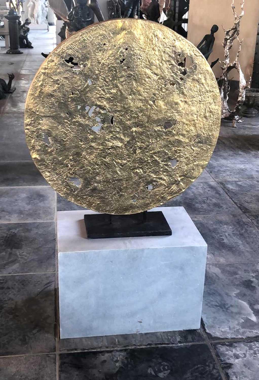 Bronzeobjekt HIMMELSSCHEIBE, auf Wunsch inkl. Ständer