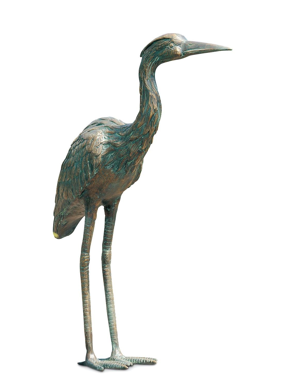Bronzefigur Vogel GRAUREIHER, 53 cm