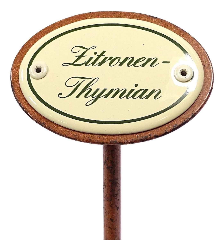 Kräuterschild ZITRONEN-THYMIAN