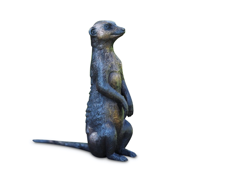 Bronzefigur Erdmännchen KARLA, 18 cm