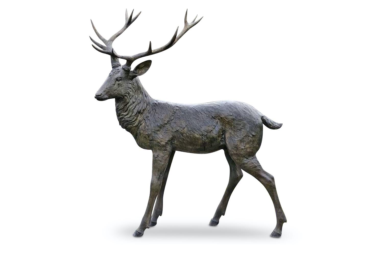 Bronzefigur Hirsch WINSTON