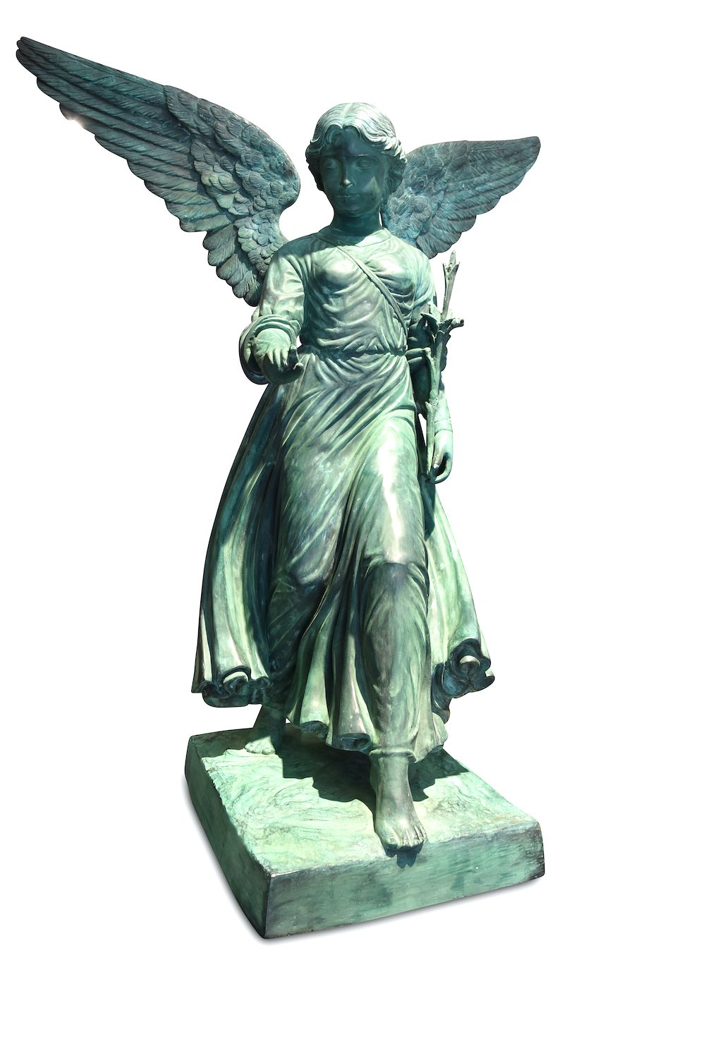 Bronzefigur ANGEL OF THE WATERS, 124 cm