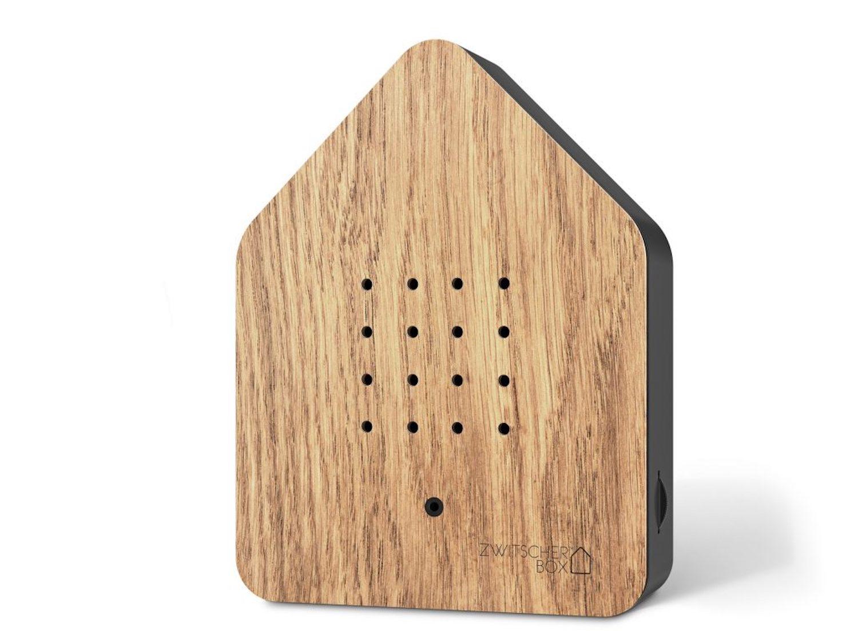ZWITSCHERBOX Holz EICHE-schwarz