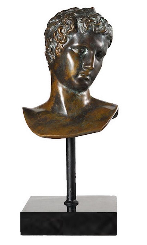 Bronzebüste DER KNABE VON MARATHON, Kopfbüste