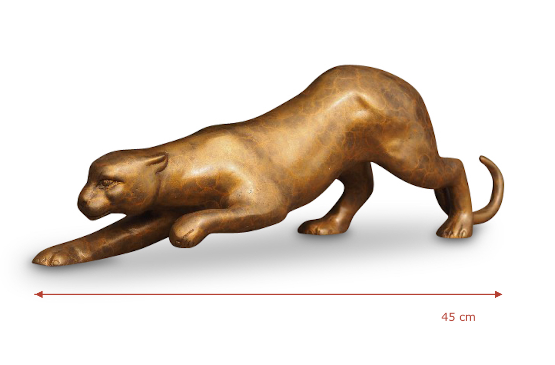 Bronzefigur PANTHER 45 cm