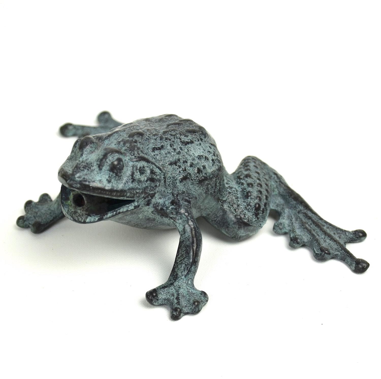 Bronzewasserspeier Frosch JEAN, 16 cm