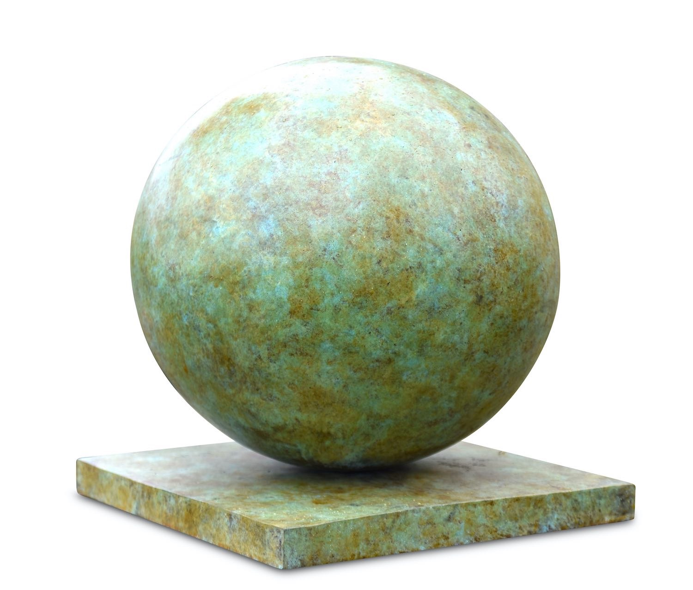 Bronzefigur KUGEL, Finial, Pfeilerkrönung, ø 35 cm