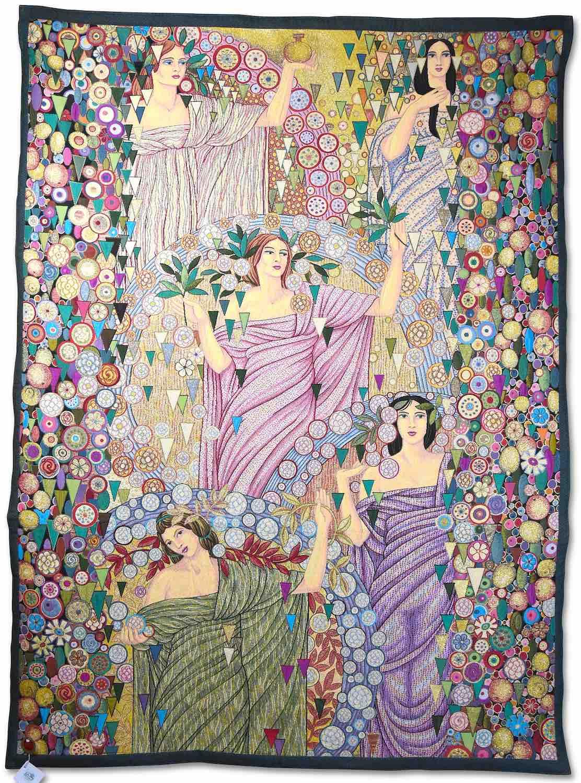 Wandgobelin LA PRIMAVERA (Galileo Chini), 135 x 185 cm