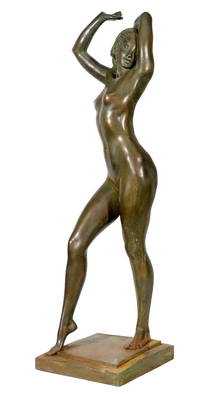"Originale Bronzefigur ""In The Path of the Sun"", Allan Clark (1896–1950)"